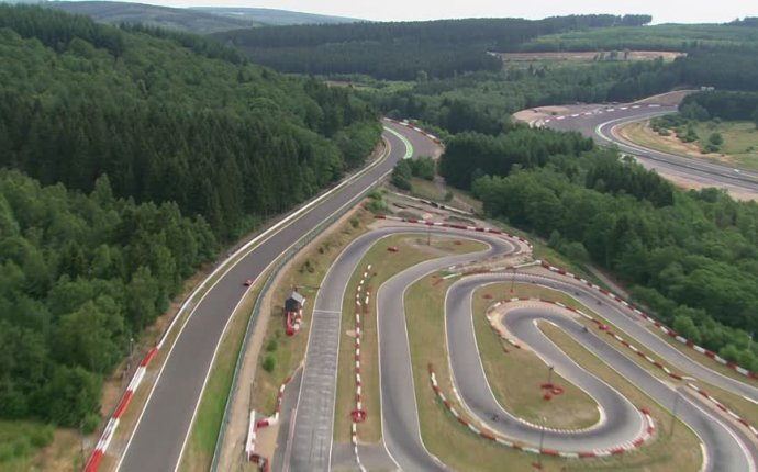 Spa-Francorchamps / Course / Belgium HD Stock Video Footage