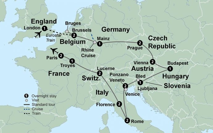The Complete European Journey featuring Brussels, Prague, Vienna