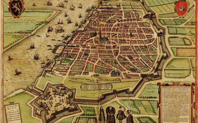 Vintage Map Of Antwerp Belgium - 1572 Drawing by CartographyAssociates