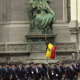 Belgium celebrates its independence day at the Cinquantenaire Arch.