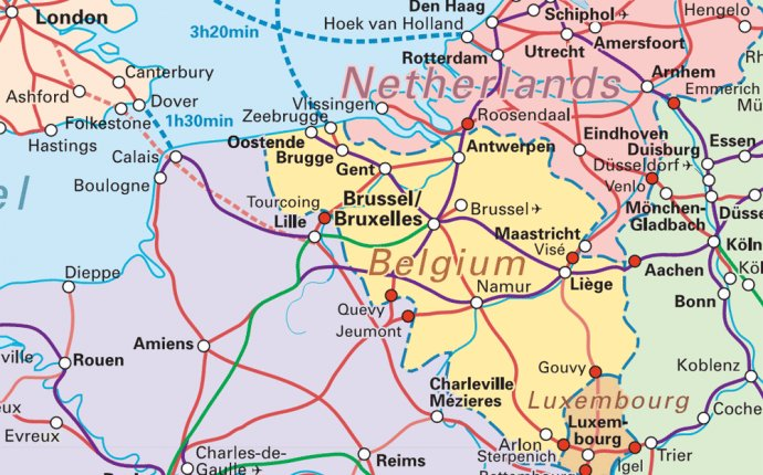 Train Map of Belgium