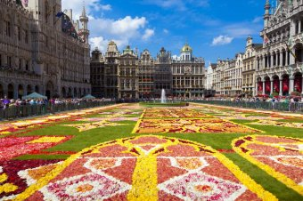 floral carpet on the magnificent Grand Place square