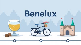 Illustration of symbols representing Benelux.