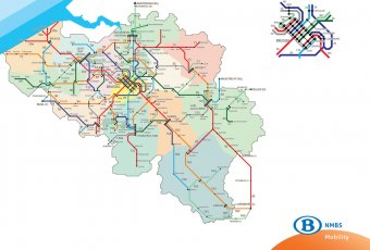 Official Map: Belgian Railways Network Following on from the previous post about Luxembourg, here's another nationwide system map that resembles a subway map, this time for Luxembourg's neighbour, Belgium - the land of beer, frites and Tintin! Have...