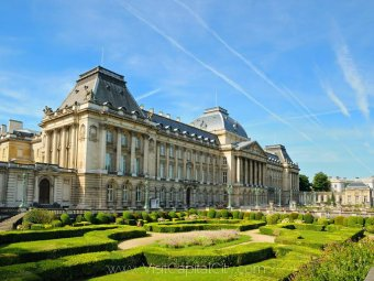 The monumental Royal Palace in center of Brussels