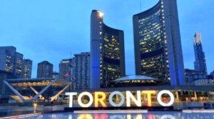 The 'Toronto' sign was lit up in the colours of the Belgian flag after deadly terror attacks killed over 30 people in Brussels on Tuesday, March 22, 2016.