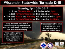 Wisconsin State Tornado Drill 2017